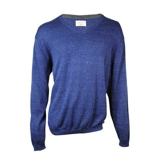 Weatherproof Men's V-Neck Slub Cotton Blend Sweater - XL