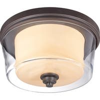 "Nuvo Lighting 60/4552 Decker 3-Light 16"" Wide Flush Mount Ceiling Fixture - Sudbury Bronze - N/A"