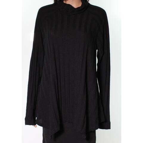 Bobeau Black Long Sleeve Pullover Women's Size Large L Cowl Neck