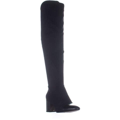 INC International Concepts Womens Alvita Fabric Cap Toe Over Knee Fashion Boots