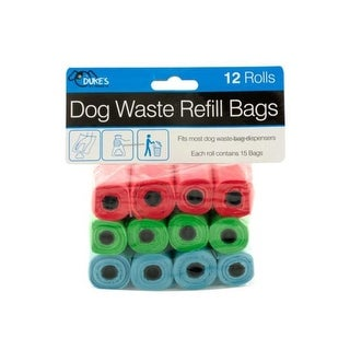 Kole Imports OL996-16 Dog Waste Refill Bags - Pack of 16