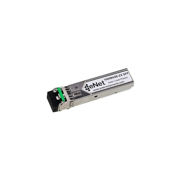 ENET MGBIC-LC07-ENC Enterasys Compatible MGBIC-LC07 1000BASE-ZX SFP 1550nm 120km DOM Duplex LC SMF 100% Tested Lifetime Warranty