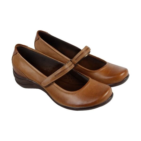 Hush Puppies Epic Mary Jane Womens Tan Leather Casual Dress Loafers Shoes
