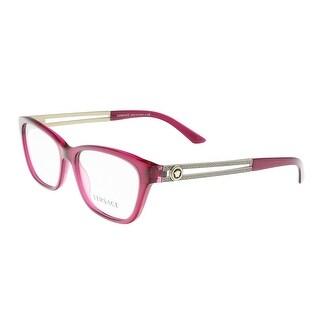 Versace VE3220 5097 Fuschia Rectangle Optical Frames - 54-16-140