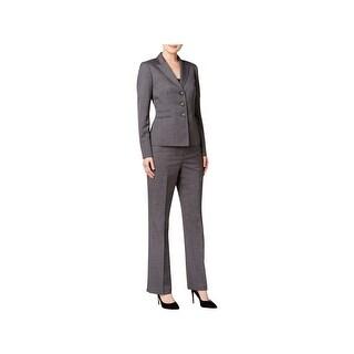 Le Suit Womens Melange Pant Suit Professional Business