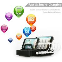 6 Port USB Hub Charger Charging Dock Station Stand 60W for Tablet & Phone