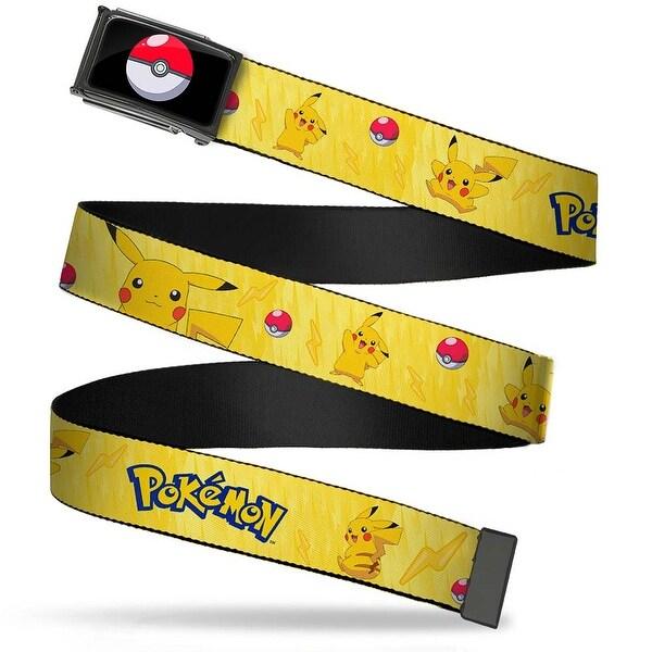 Poke Ball Fcg Chrome Pikachu Poses W Pokemon Yellow Webbing Web Belt