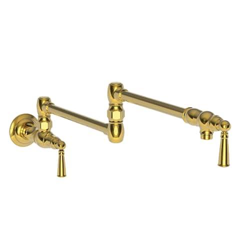 Newport Brass 2470-5503 Jacobean Wall Mounted Pot Filler with Dual Handles -