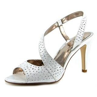 Alfani Louann Women Open-Toe Synthetic Silver Slingback Heel