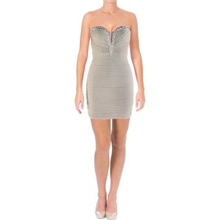 JVN by Jovani Womens Semi-Formal Dress Embellished Strapless