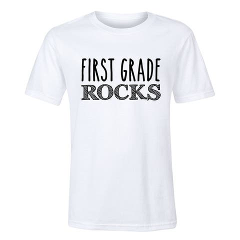 First Grade Rocks - Youth Short Sleeve Tee