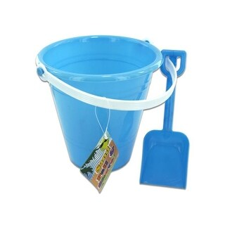 Solid colored beach pail with shovel - Case of 48