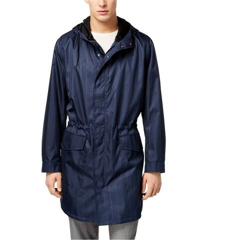 Kenneth Cole Mens Pinstripe Anorak Jacket