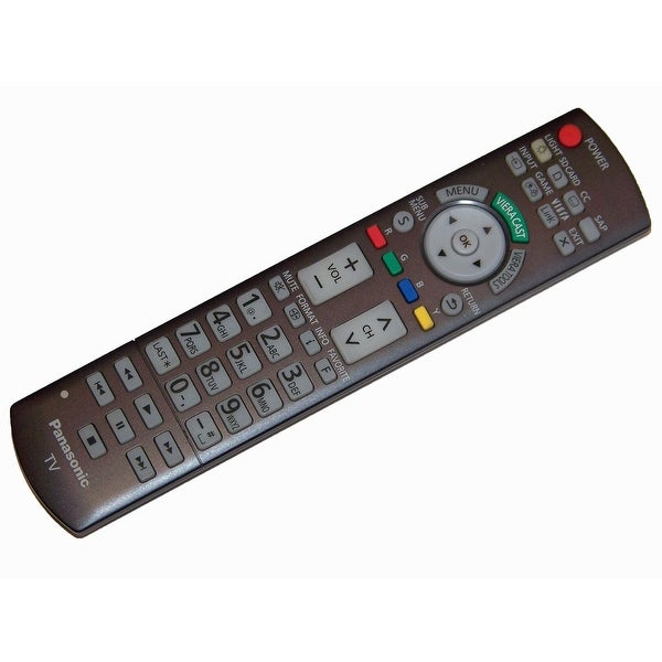 OEM Panasonic Remote Control Originally Shipped with TCP54G25, TCP54VT25, TCP58VT25, TCP65VT25