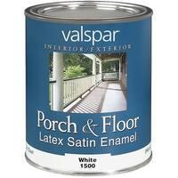 Valspar White Ltx Floor Enamel 027.0001500.005 Unit: QT