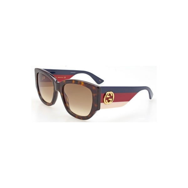 7f1fabf668ac4 Shop Gucci Brown Gradient Sunglasses Gg0276S-002 53 - avana-multicolor-brown  - One size - Free Shipping Today - Overstock - 24266474