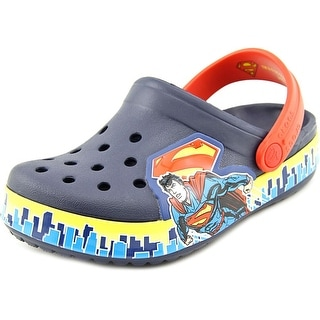 Crocs Crocband Superman Clog Round Toe Synthetic Clogs