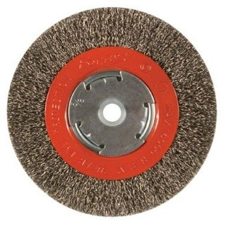 """Forney Industries 72750 Arbor Coarse Crimped Wire Bench Wheel, 6"""""""