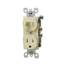 Leviton 15A Iv Tamp Swtch/Outlet