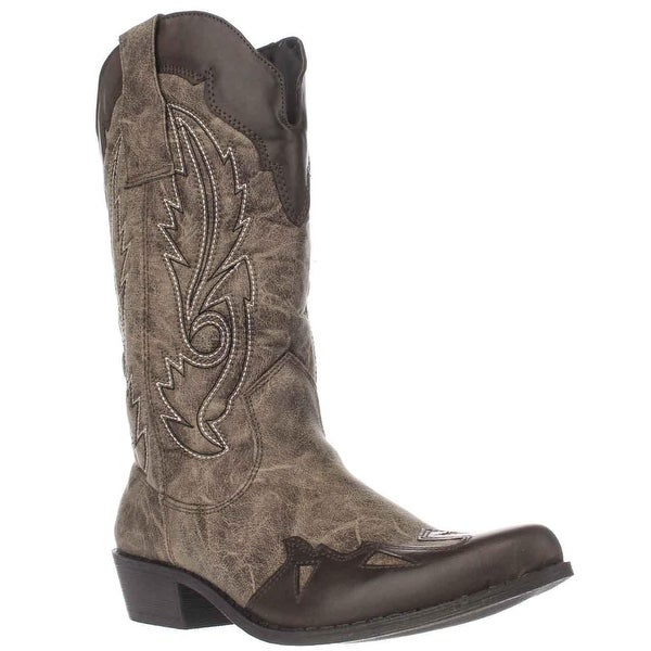 Dolce by Mojo Moxy Quiggly Western Boots, Natural