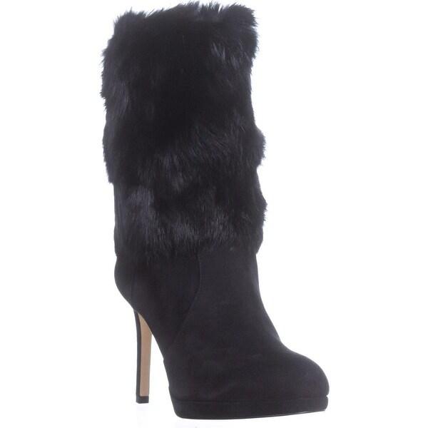 MICHAEL Michael Kors Faye Fur Boots, Black - 9 us / 40 eu