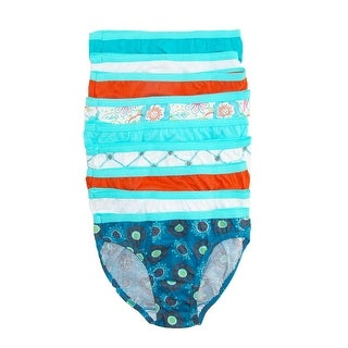 Hanes Girls' Cotton Tagless Bikini Underwear (Pack of 9) - Multi