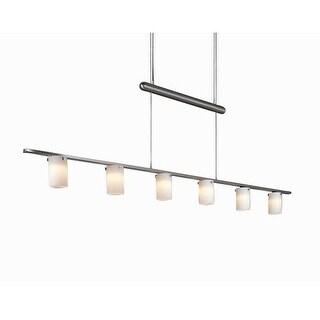 Kovacs GK P8027 6 Light 1 Tier Linear Chandelier from the Counter Weights Collection