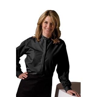 Women's Long Sleeve Banded Collar Shirt