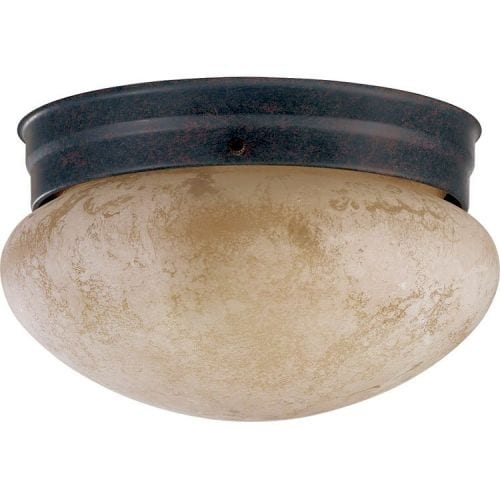 Quorum International Q3026-8 2 Light Flushmount Ceiling Fixture with Etruscan Frosted Glass Shade