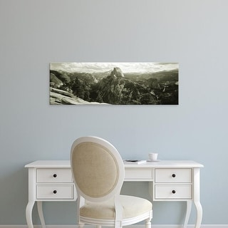 Easy Art Prints Panoramic Images's 'USA, California, Yosemite National Park, Half Dome' Premium Canvas Art