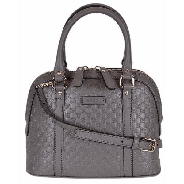 d90ca091 Shop Gucci 449654 Micro GG Grey Leather Convertible Mini ...