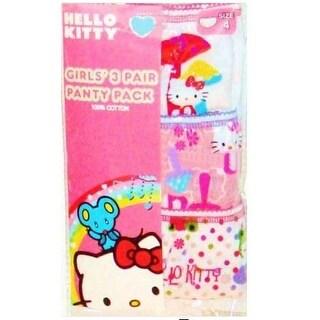 Sanrio Girls 4-8 Hello Kitty Panty - 3 Pack