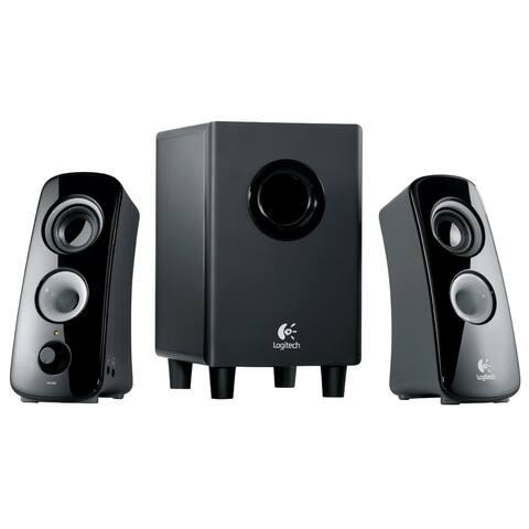 Logitech Z323 3-Piece 2.1 Channel Multimedia Speaker System, Black (Certified Refurbished)