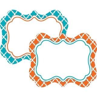 Wild Moroccan Labels Orange & Teal