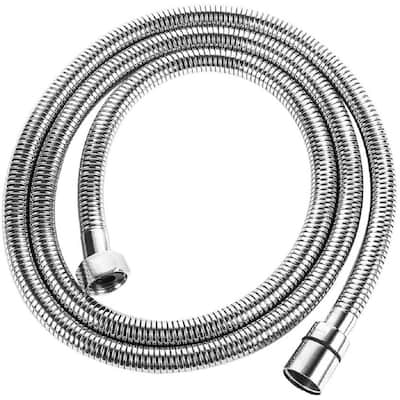 59 Inches Portable Flexible Extra Long Extension 304 Stainless Steel Tub Shower Hose, Chrome Finish Replacement Shower Hose