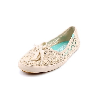 Keds Teacup Women Round Toe Canvas Ivory Flats