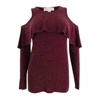 Michael Kors Women's Ruffled Cold-Shoulder Sweater