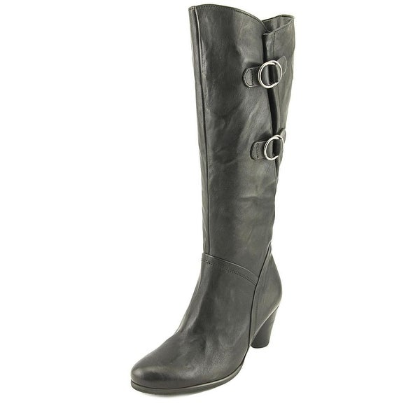 Gabor 36.596 Women W Round Toe Leather Black Boot