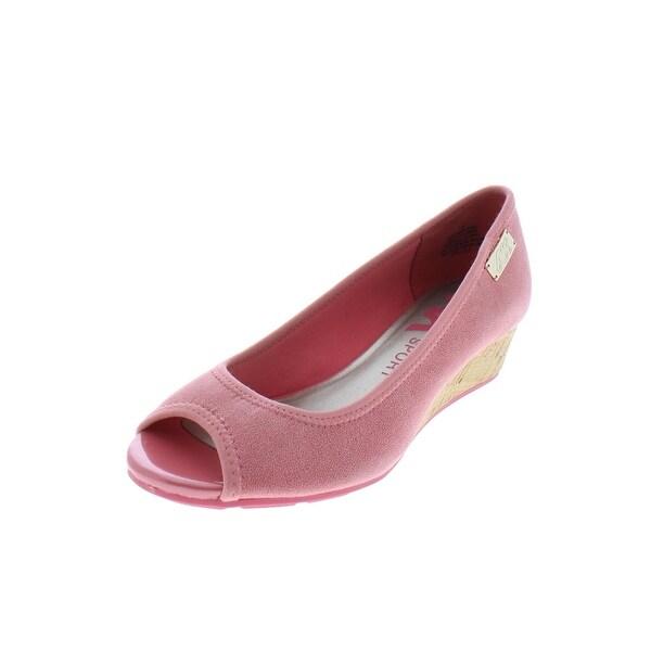 Anne Klein Sport Womens Camrynne Wedge Sandals Open Toe Casual