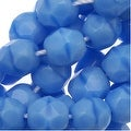 Czech Fire Polished Glass Beads 6mm Round Blue Turquoise (25) - Thumbnail 0