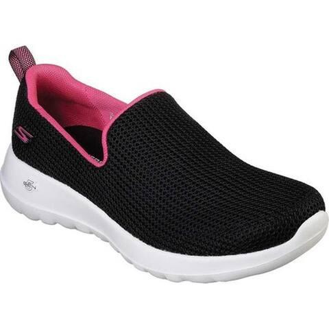 a267f359fbd9 Skechers Women s GOwalk Joy Centerpiece Slip-On Walking Shoe Black Hot Pink