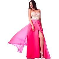 Cassandra Stone by Mac Duggal Womens Formal Dress Chiffon Embellished