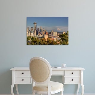 Easy Art Prints Jamie & Judy Wild's 'Seattle skyline from Kerry Park' Premium Canvas Art