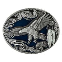 Flying Eagle Buckle with Leaf and Feathers Detail