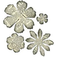 """Tattered Florals - Sizzix Bigz Die By Tim Holtz 5.5""""X6"""""""
