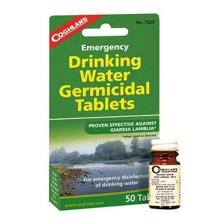 Coghlan's 7620 Emergency Drinking Water Tablet, 50 Tablets
