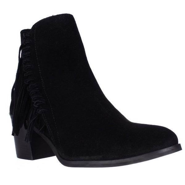 3ce8d2a23ddb8 Shop Kenneth Cole REACTION Rotini Side Fringe Ankle Boots, Black ...