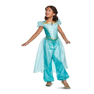 Girls Jasmine Deluxe Aladdin Disney Costume