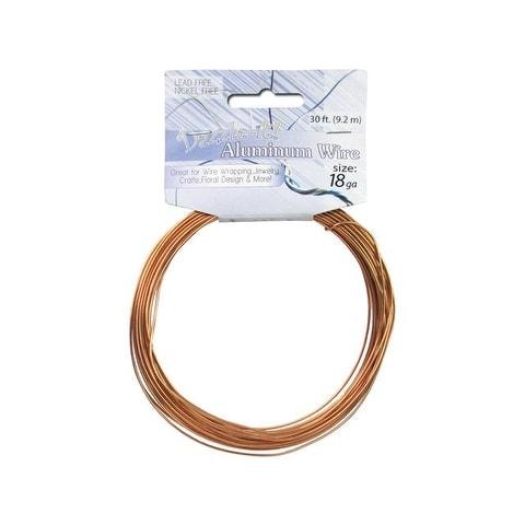 Dazzle It Aluminum Wire 18ga Rnd 30ft Light Copper