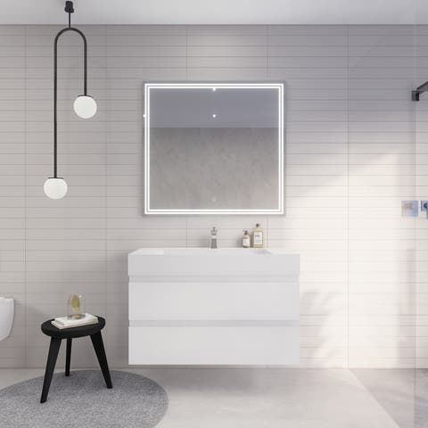 Better Monterey 42'' Wall-Mounted Vanity with Reinforced Acrylic Sink